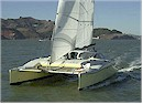 Thumbnail Image Link: 36' Cruising Catamaran - forward view